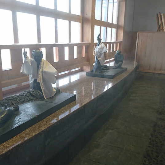 a footbath spot in front of awara-yunomachi station