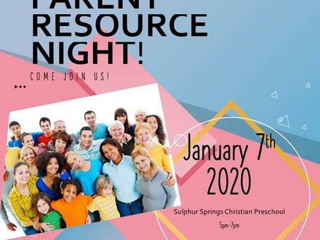 Parent Resource Night, 1.7.2020