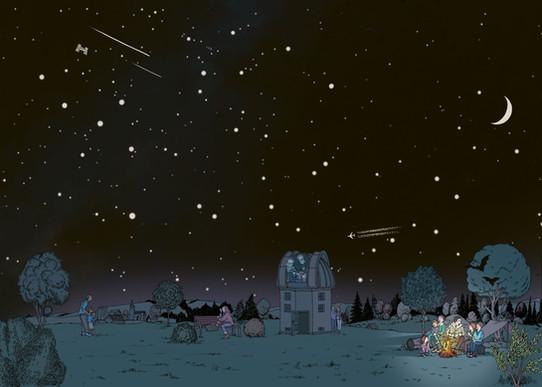Wimmelbild Sternwarte