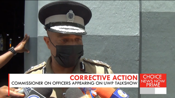 Concerns raised over police officers discussing highly politicized matters on a partisan show.