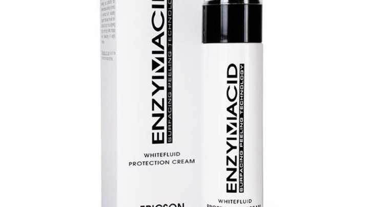 ENZYMACID. WHITEFLUID. Restorative protective fluid with SPF factor 20.
