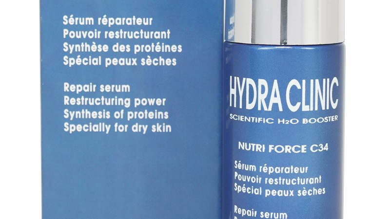 HYDRA CLINIC. NUTRI-FORCE C34. Revitalizing Nutritional Serum.