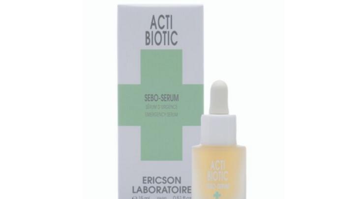 ACTI-BIOTIC. SEBO-SERUM. Fast serum against acne.