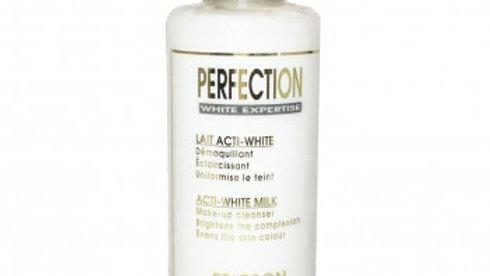 PERFECTION. ACTI-WHITE MILK. Cleansing milk.