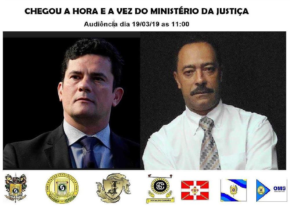 Ministro da Justiça Sérgio Moro e Dr. Jomateleno Teixeira