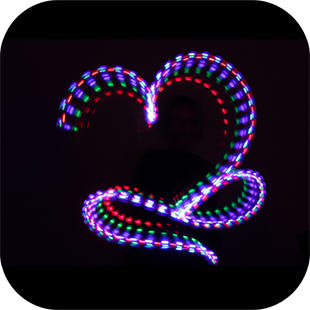 Light painting typography with long exposure photography.