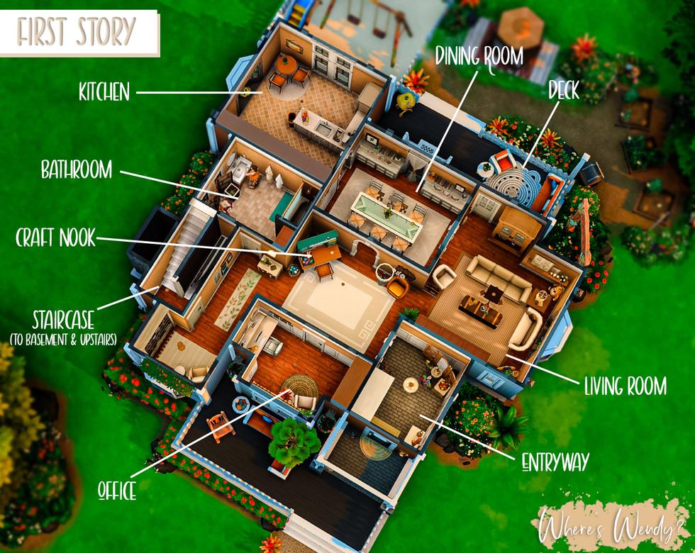 Orange Suburban Home