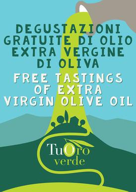 Cartolina A6 fronte - degustazione Olio Evo