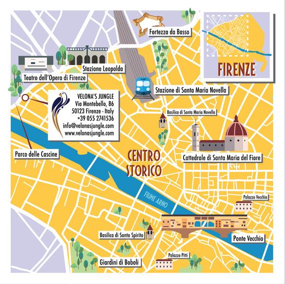 Illustrazione vettoriale per Velona's Jungle Boutique Hotel Firenze