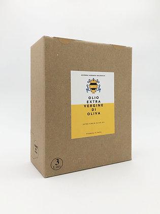 Extra virgin olive oil Bag in box 3 liters