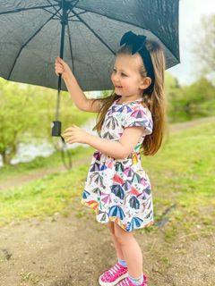 Short Sleeved Dress -British seaside