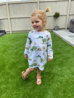 Long Sleeved Cocoon Dress - On the farm