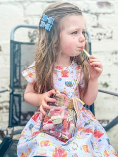 Short Sleeved Dress - Candy shop