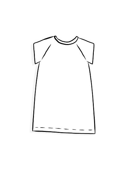 Short Sleeved Cocoon Dress - Surprise Sunday Print