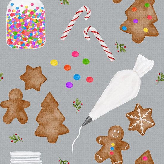 Cross back Dress - Gingerbread joy