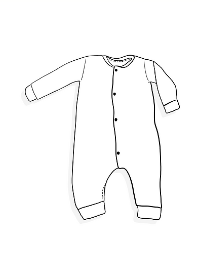 Popper down Romper (Long sleeved) - On the farm