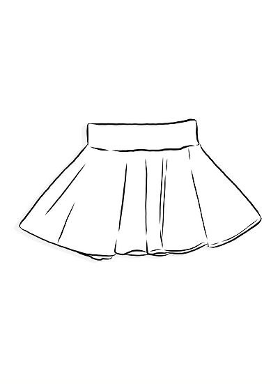 Skirt - Surprise Sunday Print