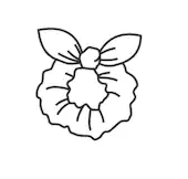 Mini bunny ears scrunchie