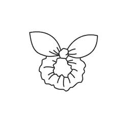 Midi bunny ears scrunchie