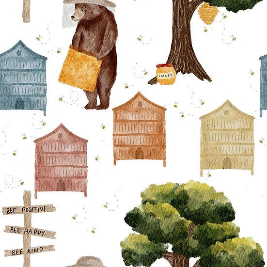 Dungarees (Short leg) - Honey bear