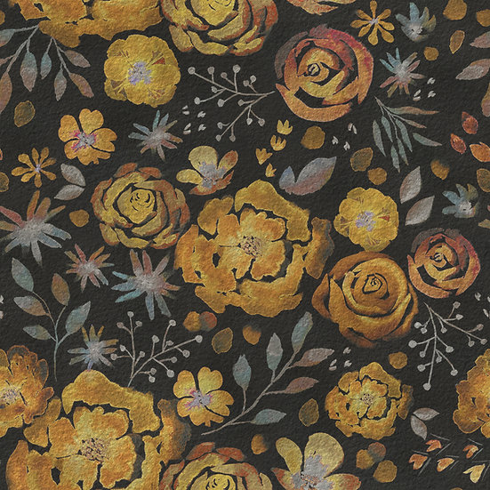 Skirt with pockets - Autumnal bloom