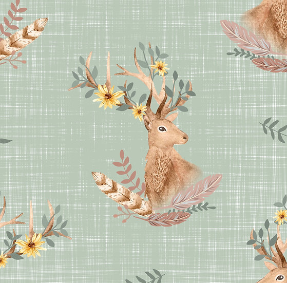 Bummie Romper - Floral Stag