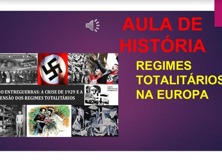 20/04 - HISTÓRIA: regimes totalitários na Europa