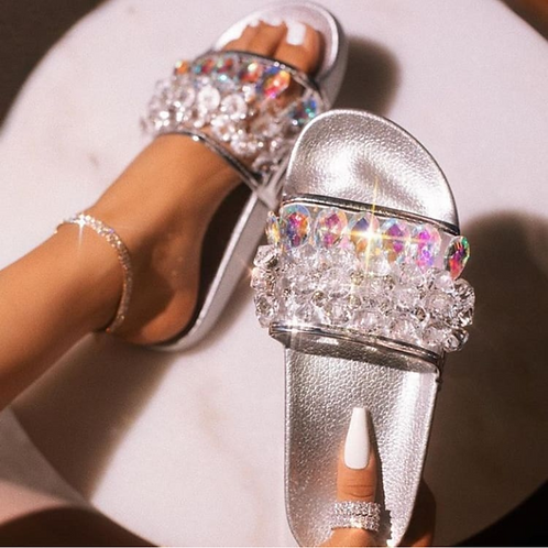 Pearls slippers