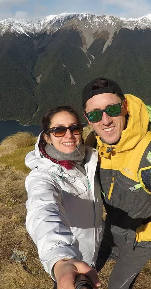 Marcelo y su pareja en Mt Robert