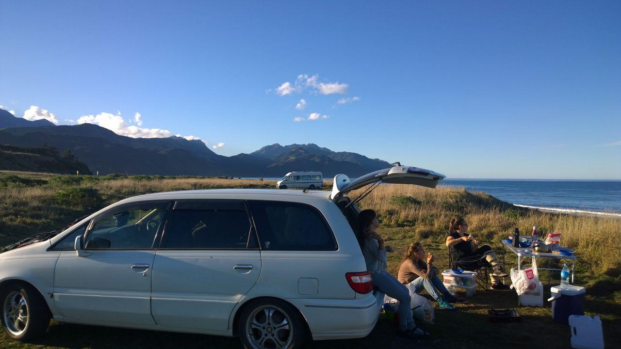 Almuerzo en Kaikoura, New Zealand,