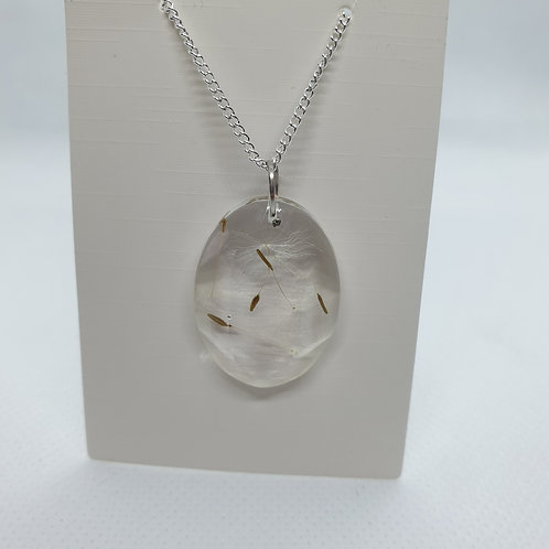 Oval wish necklace
