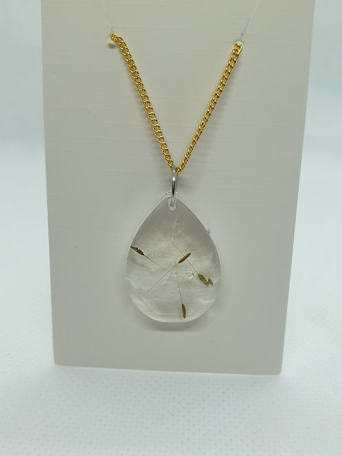 Teardrop wish necklace - Gold