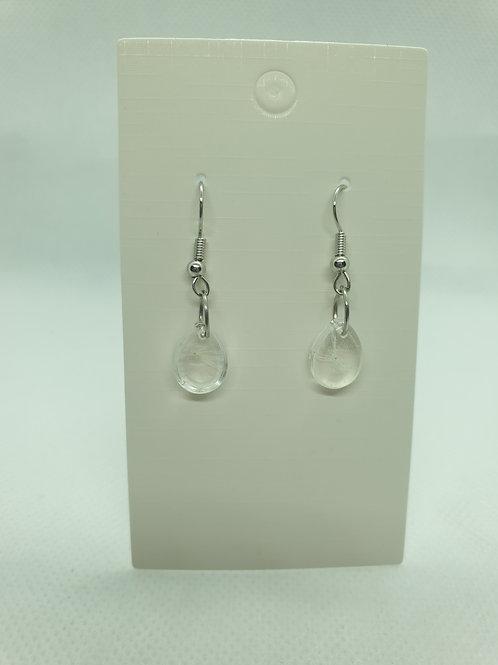 Small teardrop wish earrings