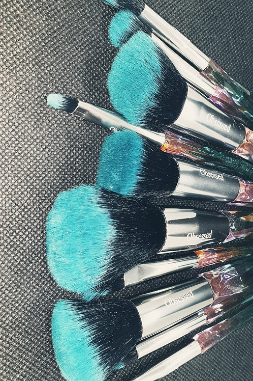 Green Crystal Brushes