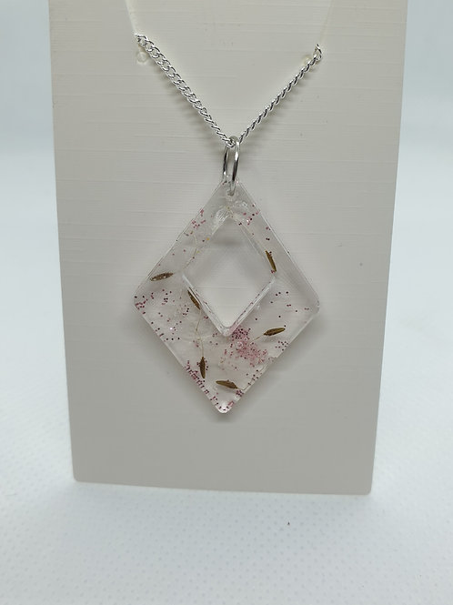 Triangle glitter wish necklace