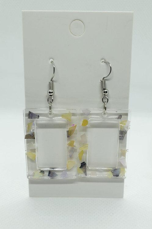 Mixed shell earrings