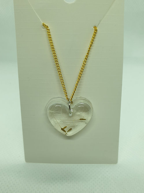 Heart wish necklace - Gold