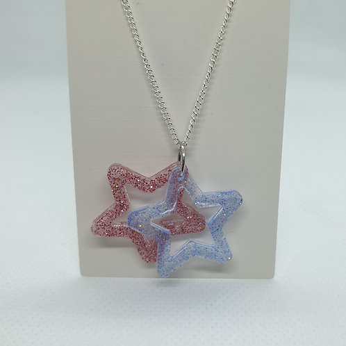 Dual star necklace