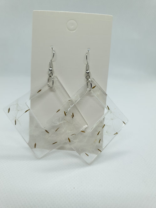 Flat diamond wish earrings