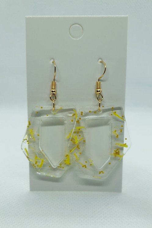 Gold and yellow petal earrings