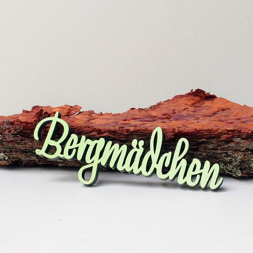 NoGallery 'Bergmädchen' Schriftzug, Lindgrün