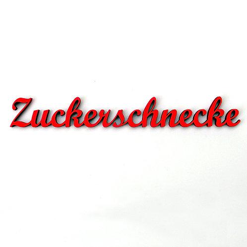 NoGallery 'Zuckerschnecke' Schriftzug, Schwarz