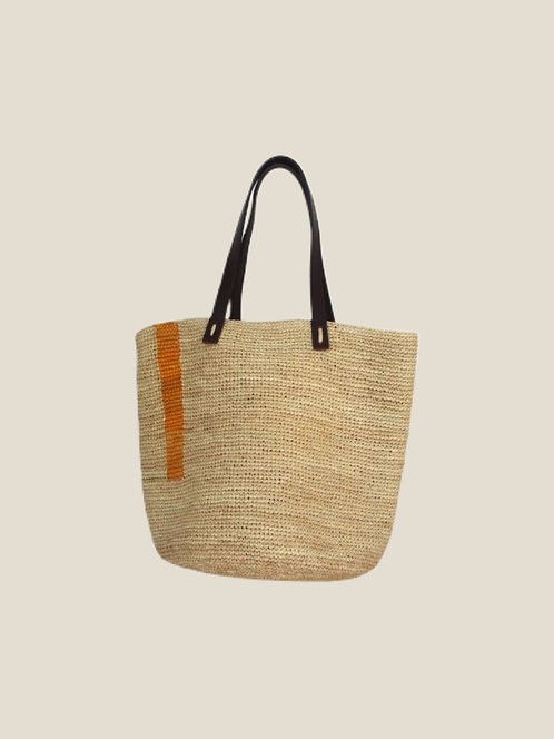 City-Boho Bag, Yellow One Stripe