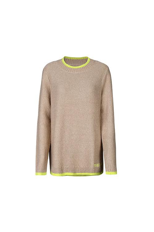'Kenzie' Pullover Pullover mit Sternintarsie, Tan