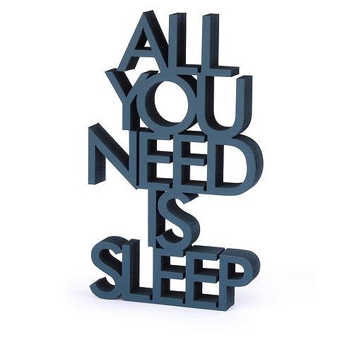 NoGallery 'All you need is sleep' Schriftzug, Grün
