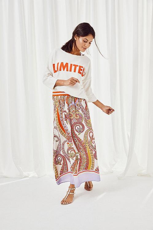 """Limited"" Sweatshirt, Creme White Orange"