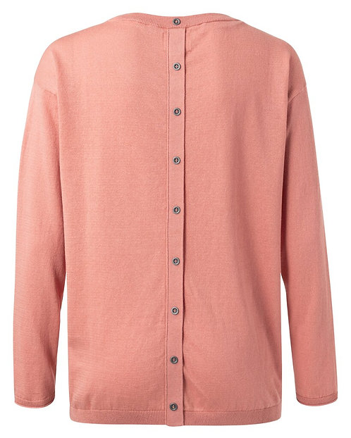 YAYA Sweater Rose Dawn + Knöpfe im Rücken