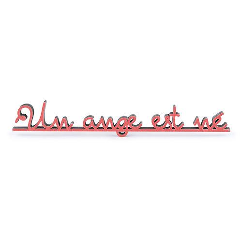 NoGallery 'Un ange est né' Schriftzug, Rot