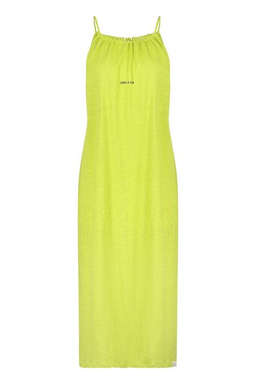 Kleid mit Spaghetti-Trägern, Green Banana & Asphalt