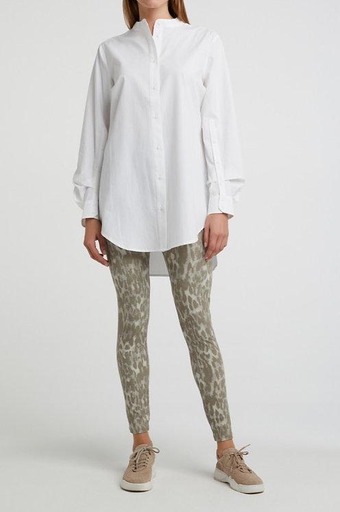 Oversize-Bluse aus Baumwolle mit Faltendetail an den Ärmeln